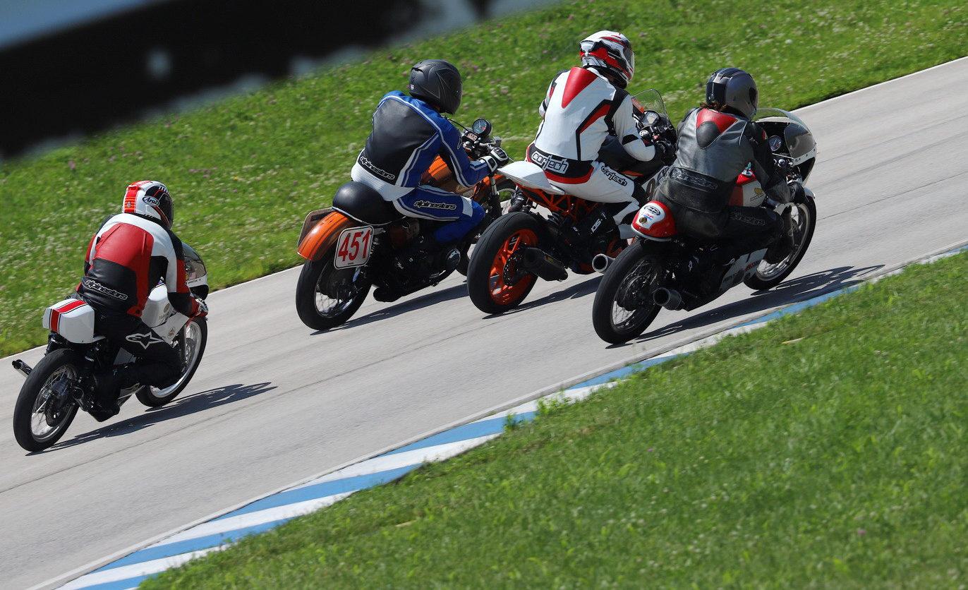 AHRMA racers in action at Carolina Motorsports Park. Photo by etechphoto.com, courtesy AHRMA.