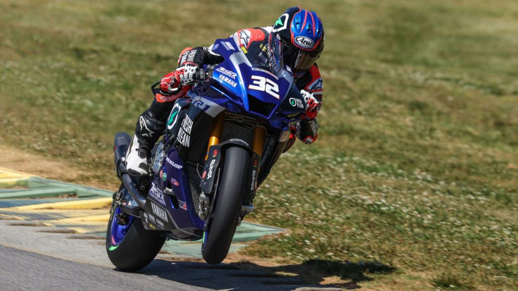 Jake Gagne (32). Photo courtesy Yamaha.