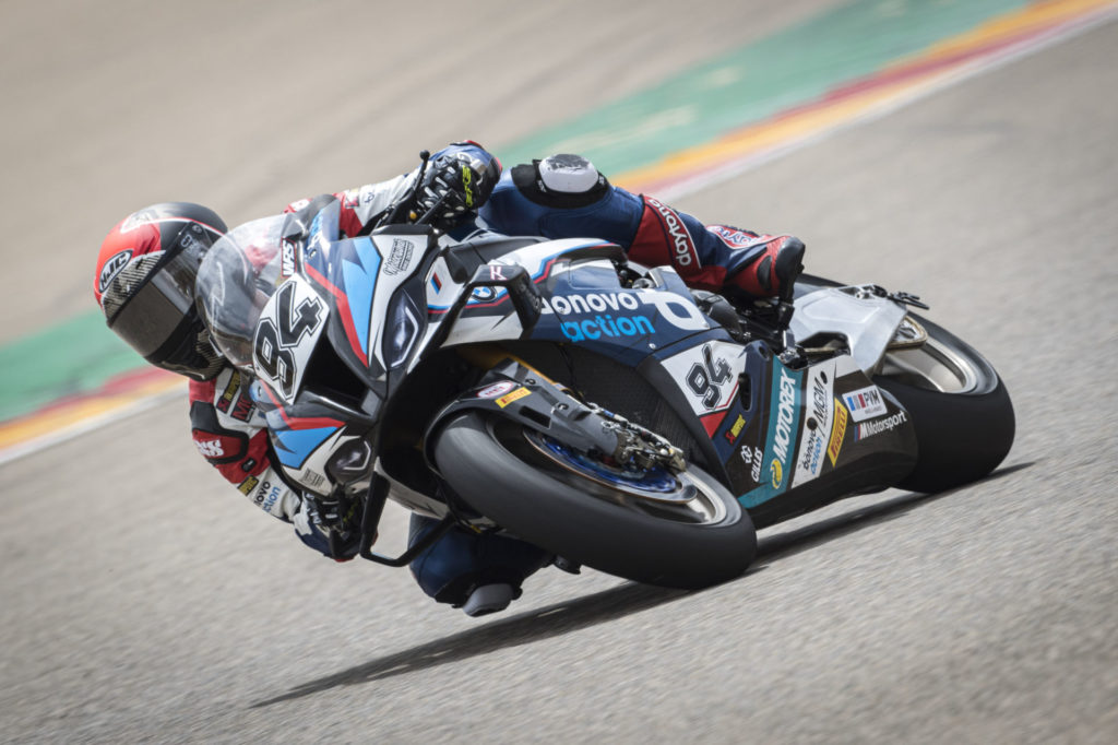 Jonas Folger (94). Photo courtesy BMW Motorrad Motorsport.
