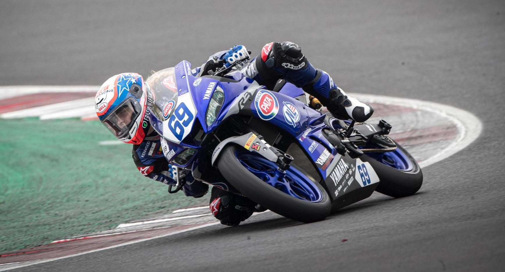 American Kayla Yaakov (69) in action at Misano. Photo courtesy Yamaha Racing.