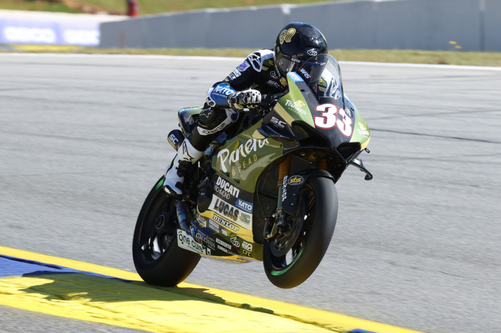 Kyle Wyman (33). Photo by Brian J. Nelson, courtesy Ducati.