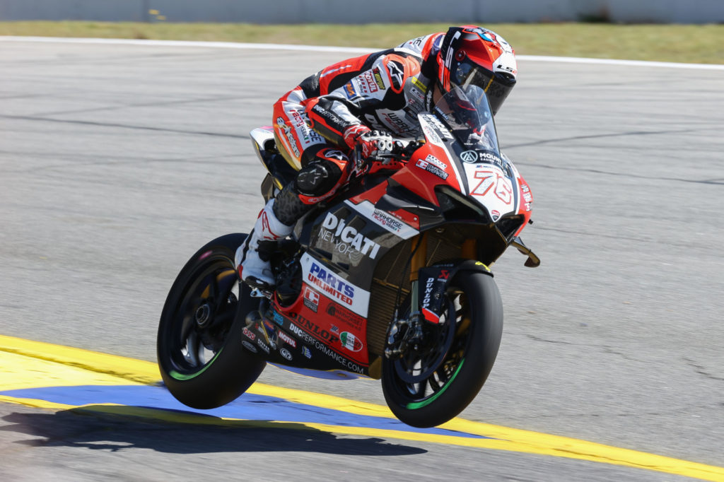 Loris Baz (76). Photo by Brian J. Nelson, courtesy Ducati.