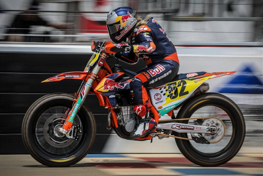 Shayna Texter-Bauman (52). Photo courtesy KTM Factory Racing.