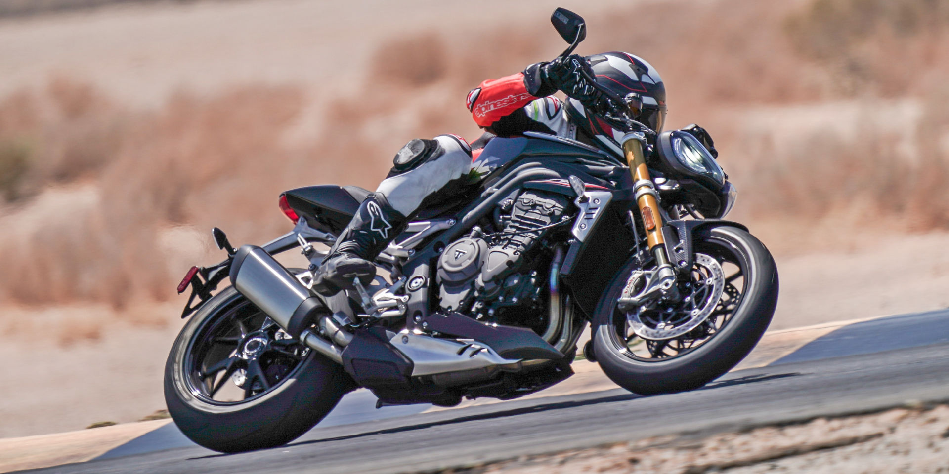 The 2022 Triumph Speed Triple 1200 RS is lighter, more compact, more powerful and has more features than its predecessor. Photo courtesy Triumph.