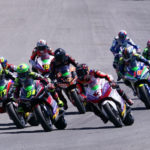 The start of the MotoE race at Jerez. Photo courtesy Dorna.