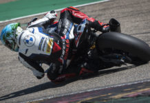 Tom Sykes, as seen earlier this week testing at Motorland Aragon. Photo courtesy BMW Motorrad Motorsport.