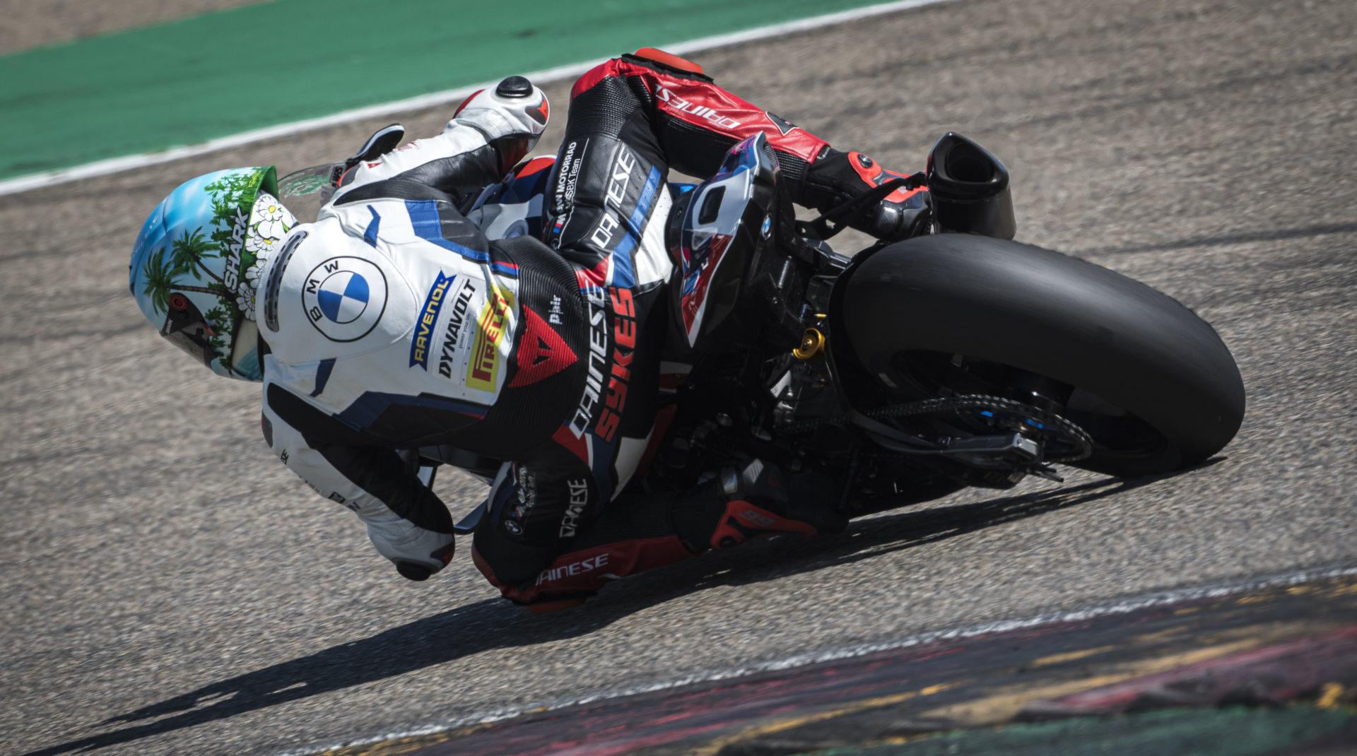 Tom Sykes, as seen earlier this week testing at Motorland Aragon. Photo courtesy BMW Motorrad Motorsport.