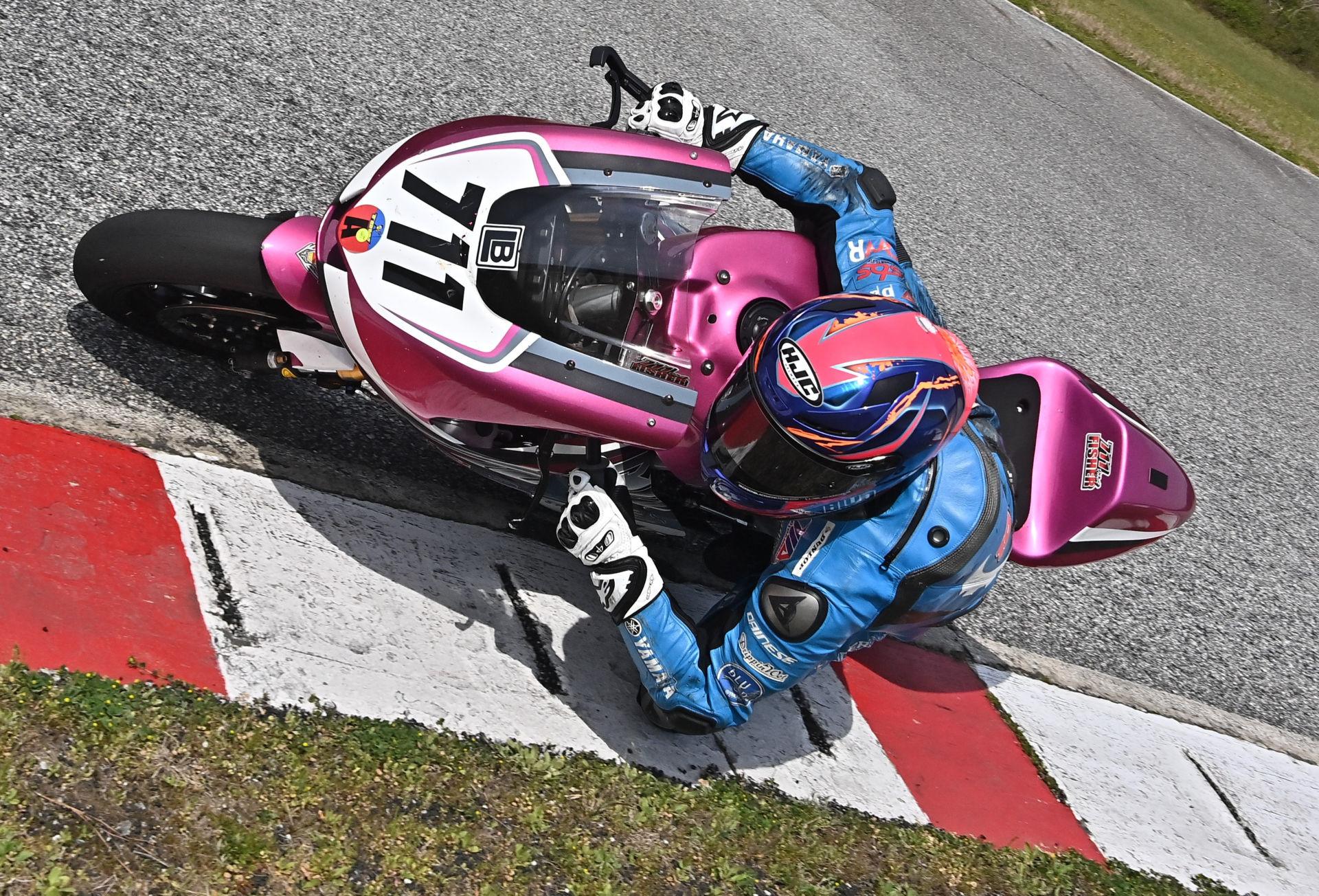 Jackson Blackmon (711) testing his new Yamaha MT-07 at Jennings GP. Photo courtesy JBR.