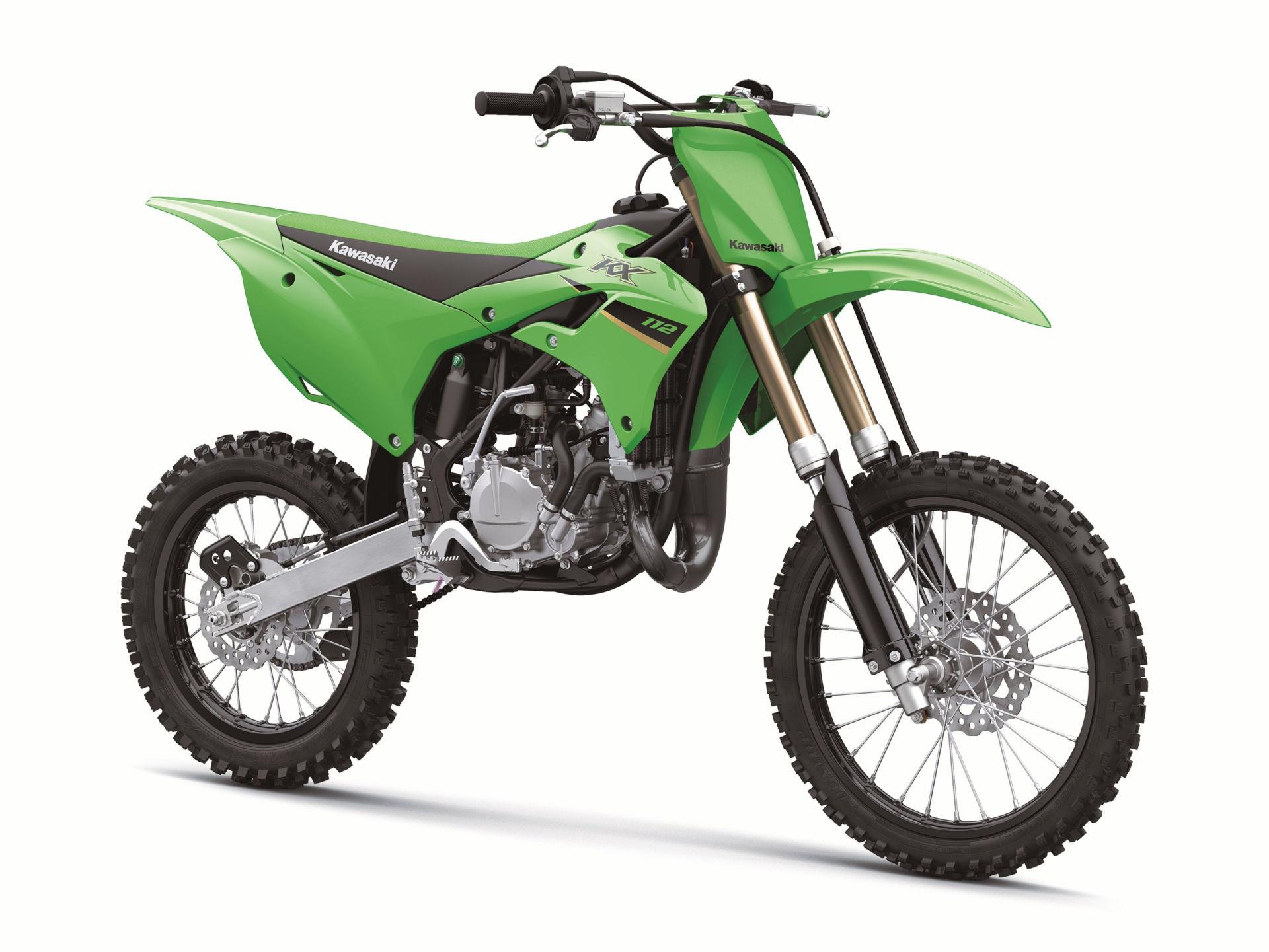 A 2022-model Kawasaki KX112. Photo courtesy Kawasaki.