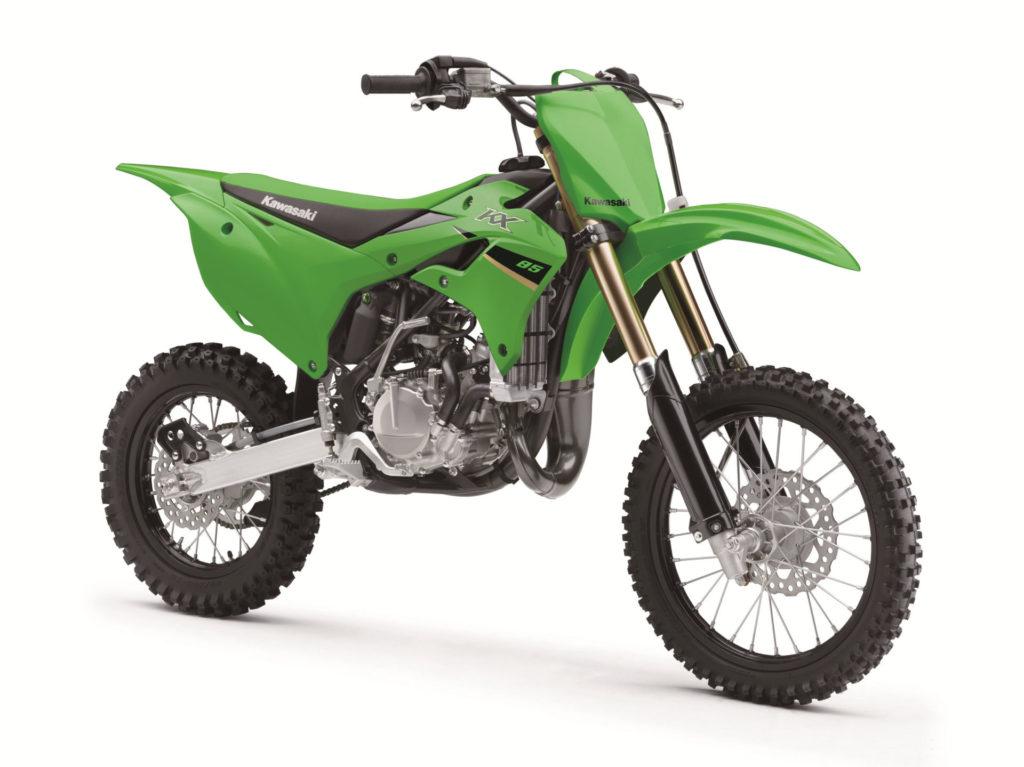 A 2022-model Kawasaki KX85. Photo courtesy Kawasaki.