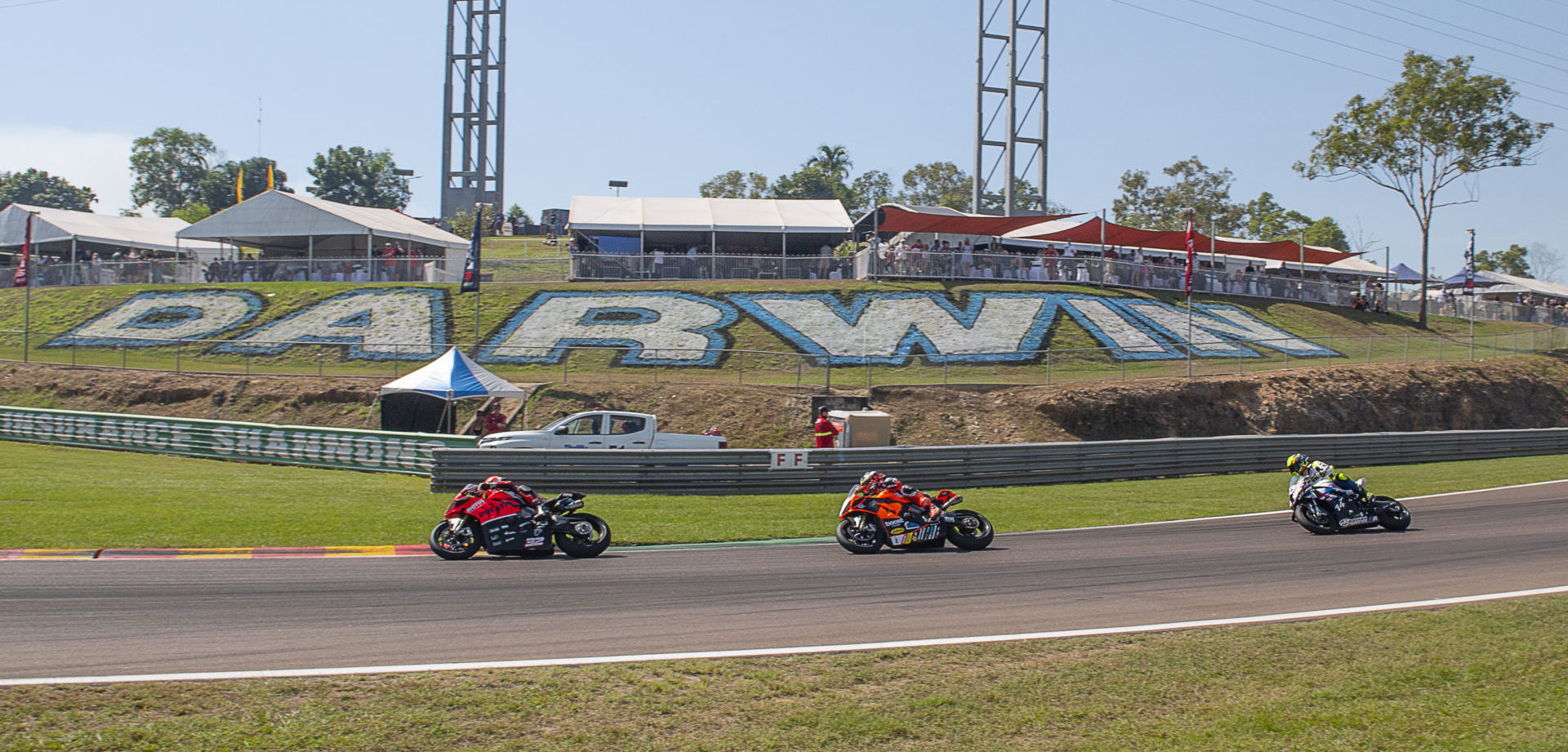 Action from an Australian Superbike race at Hidden Valley Raceway. Photo by Optikal Photography, courtesy ASBK.