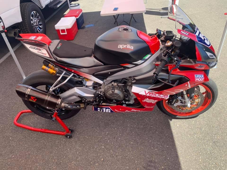 Anthony Mazziotto's Aprilia RS 660 MotoAmerica Twins Cup racebike. Photo courtesy Anthony Mazziotto.
