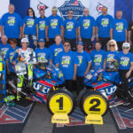 Hans Laske (back row, far left) was a long-time truck driver and crew member for Yoshimura Suzuki. This photo is from 2017 when Yoshimura Suzuki's Toni Elias and Roger Hayden went 1-2 in the MotoAmerica Superbike Championship. Photo by Brian J. Nelson.