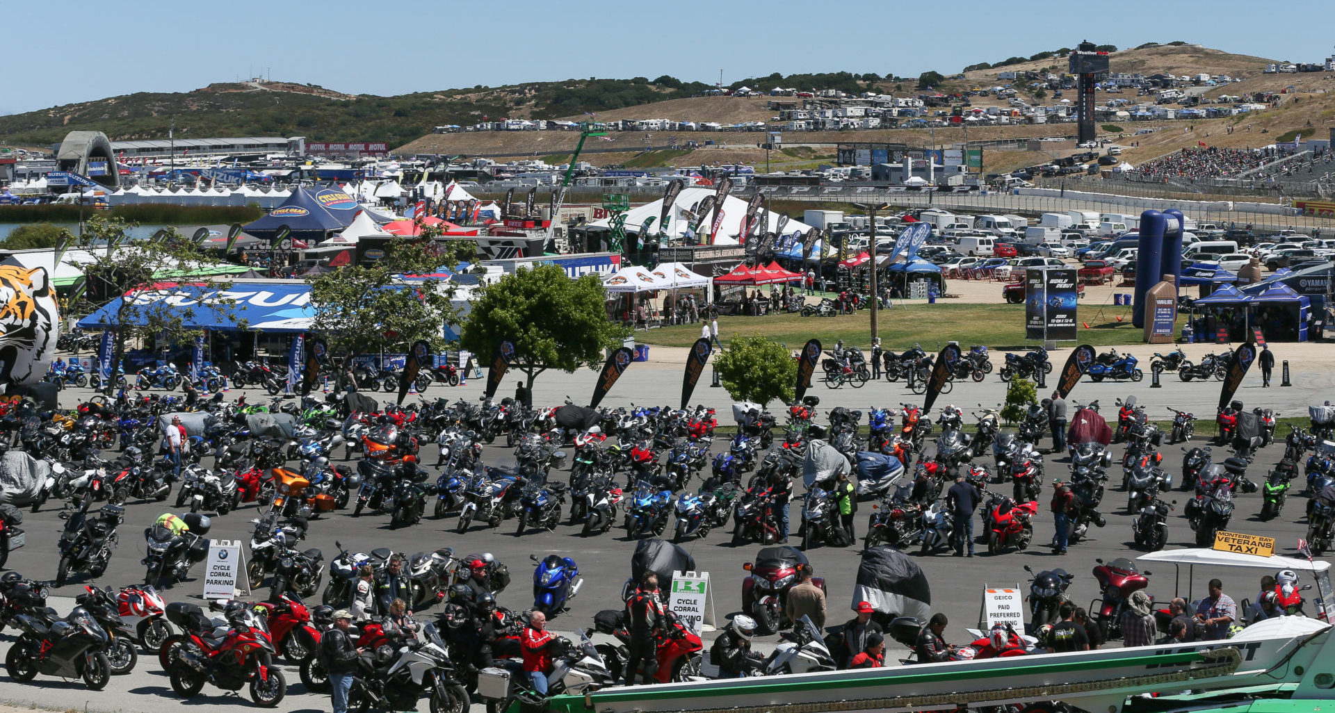 A scene from the MotoAmerica/World Superbike event at Laguna Seca Raceway in 2019. Photo by Brian J. Nelson.