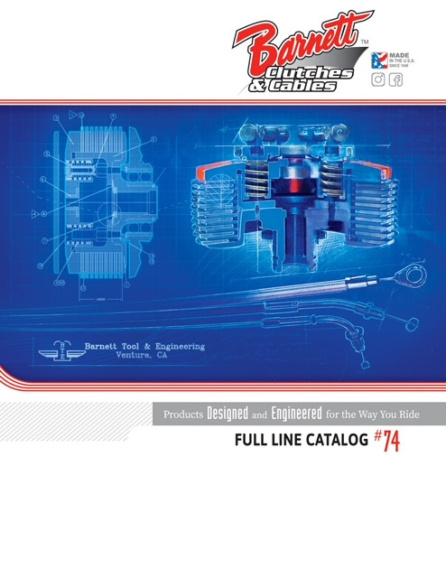 The cover of the 2021 Barnett Clutches and Cables catalog. Image courtesy Barnett Clutches and Cables.