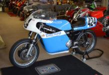 A vintage Triumph racebike. Photo courtesy WERA.