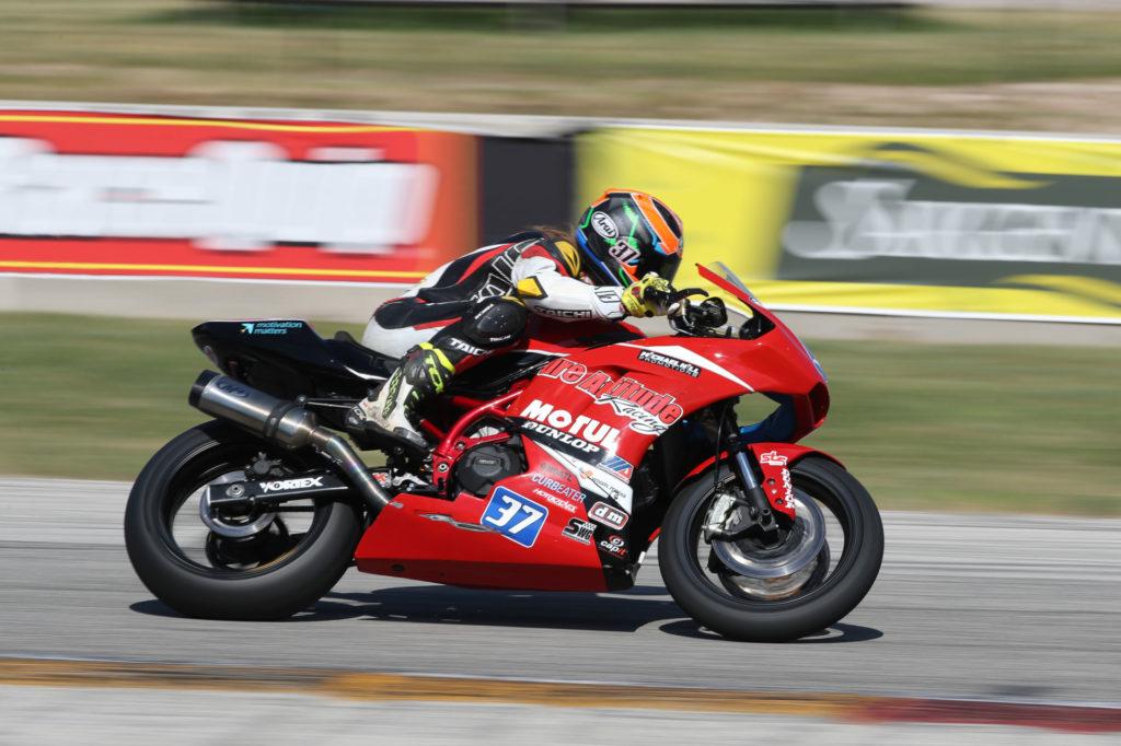 Liam MacDonald (37). Photo by Brian J. Nelson, courtesy Pure Attitude Racing.