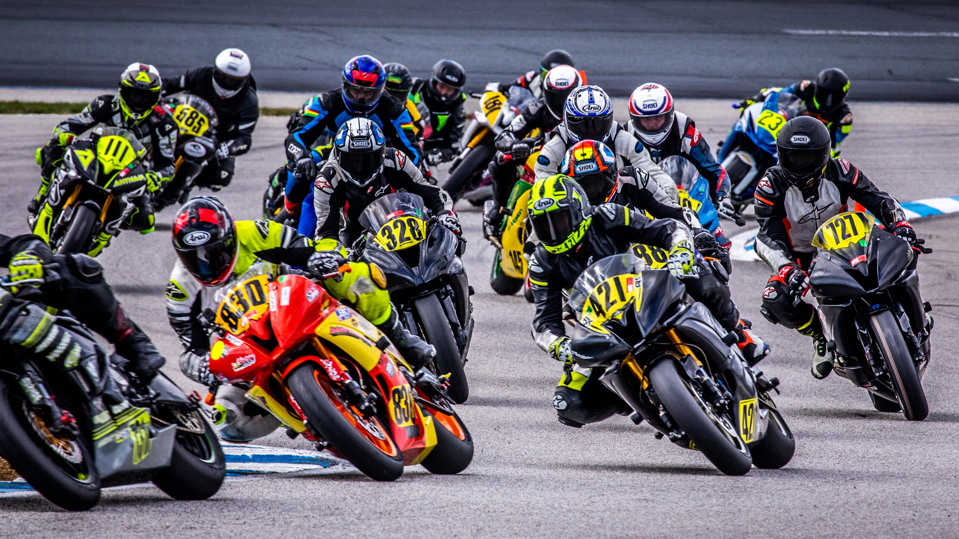 Action from a NEMRR race at New Hampshire Motor Speedway (NHMS). Photo courtesy NEMRR.