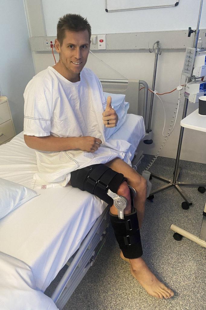 Troy Herfoss, post-surgery. Photo courtesy Penrite Honda.