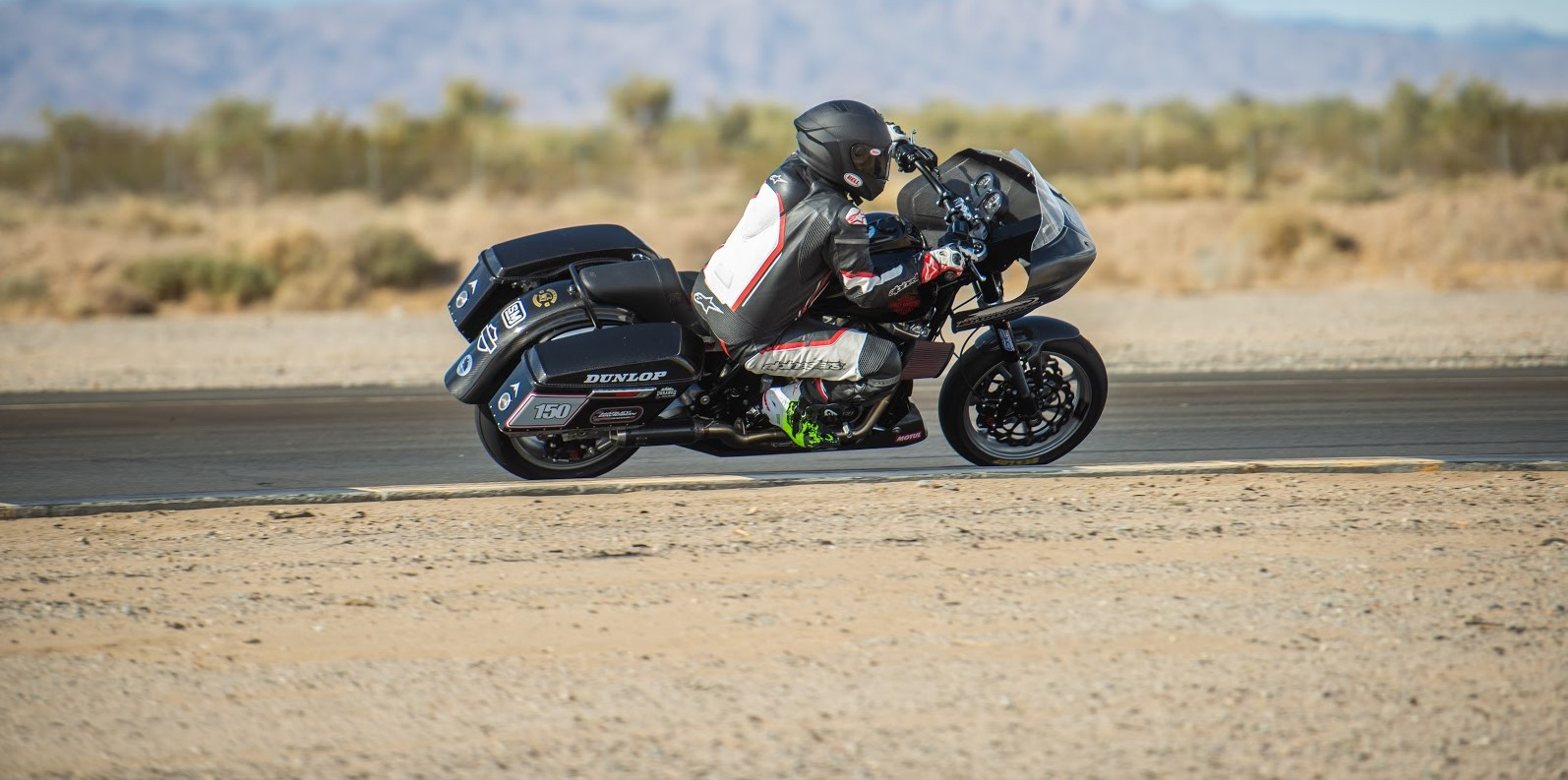 Tony Shreds riding a Durango Harley-Davidson Street Glide built by The Speed Merchant. Photo by Justin George, courtesy BRL.
