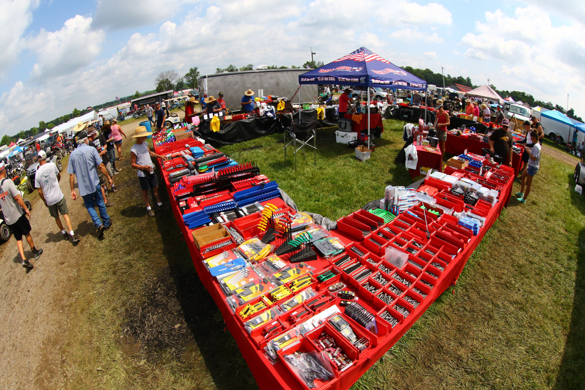 A scene from the 2019 AMA Vintage Motorcycle Days swap meet at Mid-Ohio. Photo courtesy AMA.