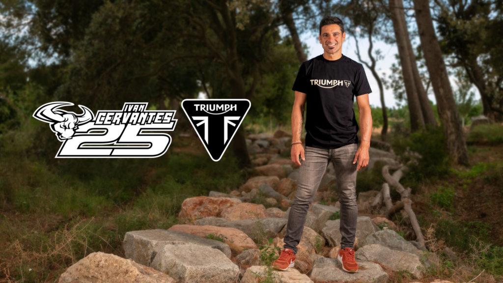 Five-time Enduro World Champion Ivan Cervantes. Photo courtesy Triumph.