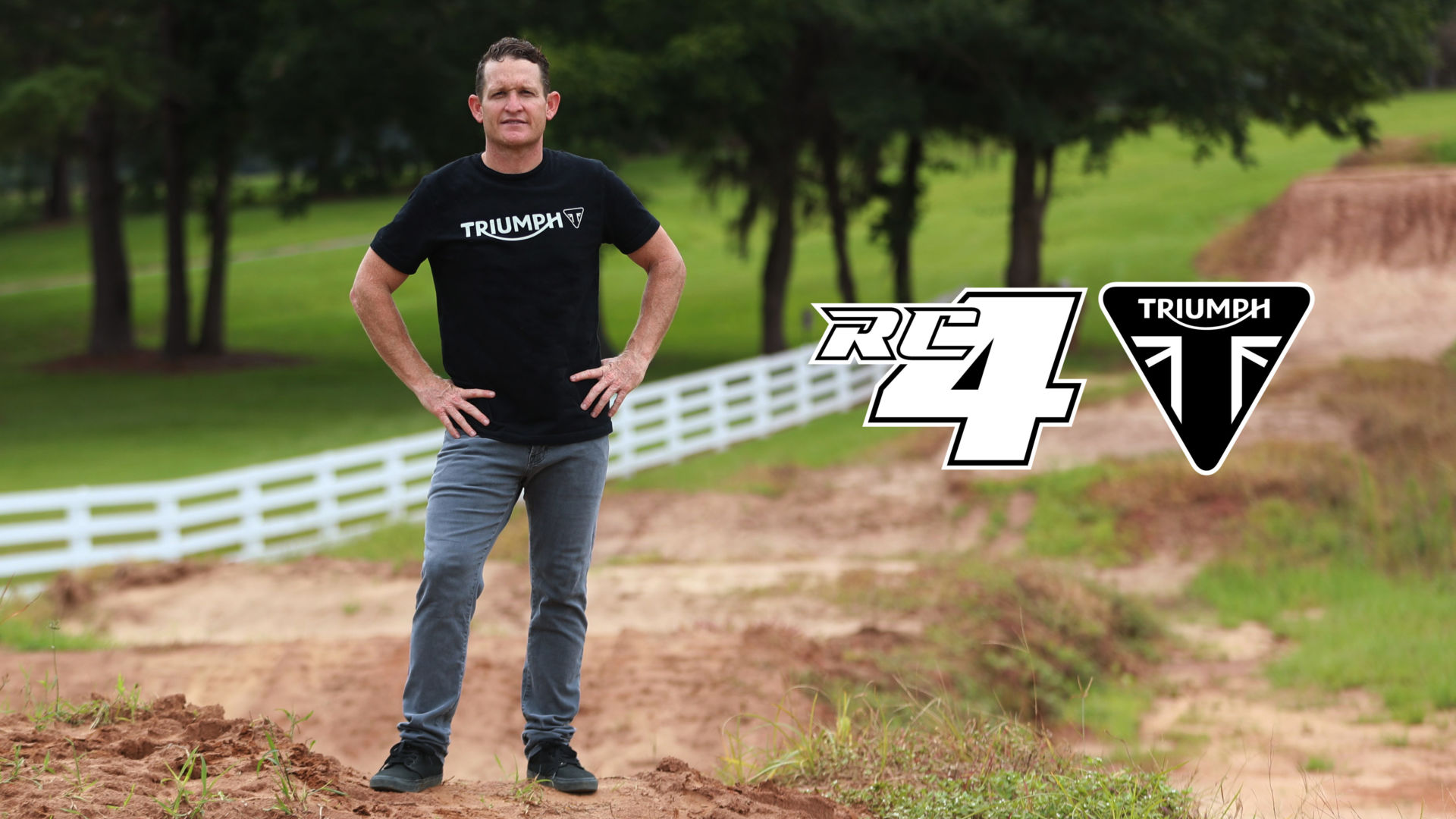 Motocross and Supercross legend Ricky Carmichael is helping Triumph develop motocross models. Photo courtesy Triumph.