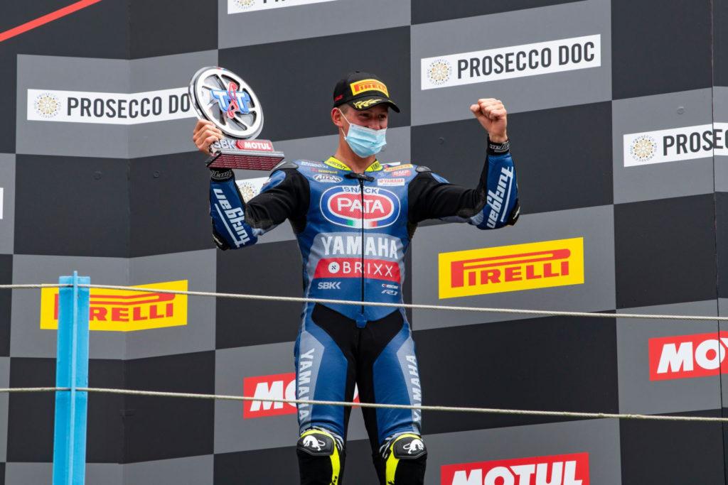 Andrea Locatelli. Photo courtesy Yamaha.