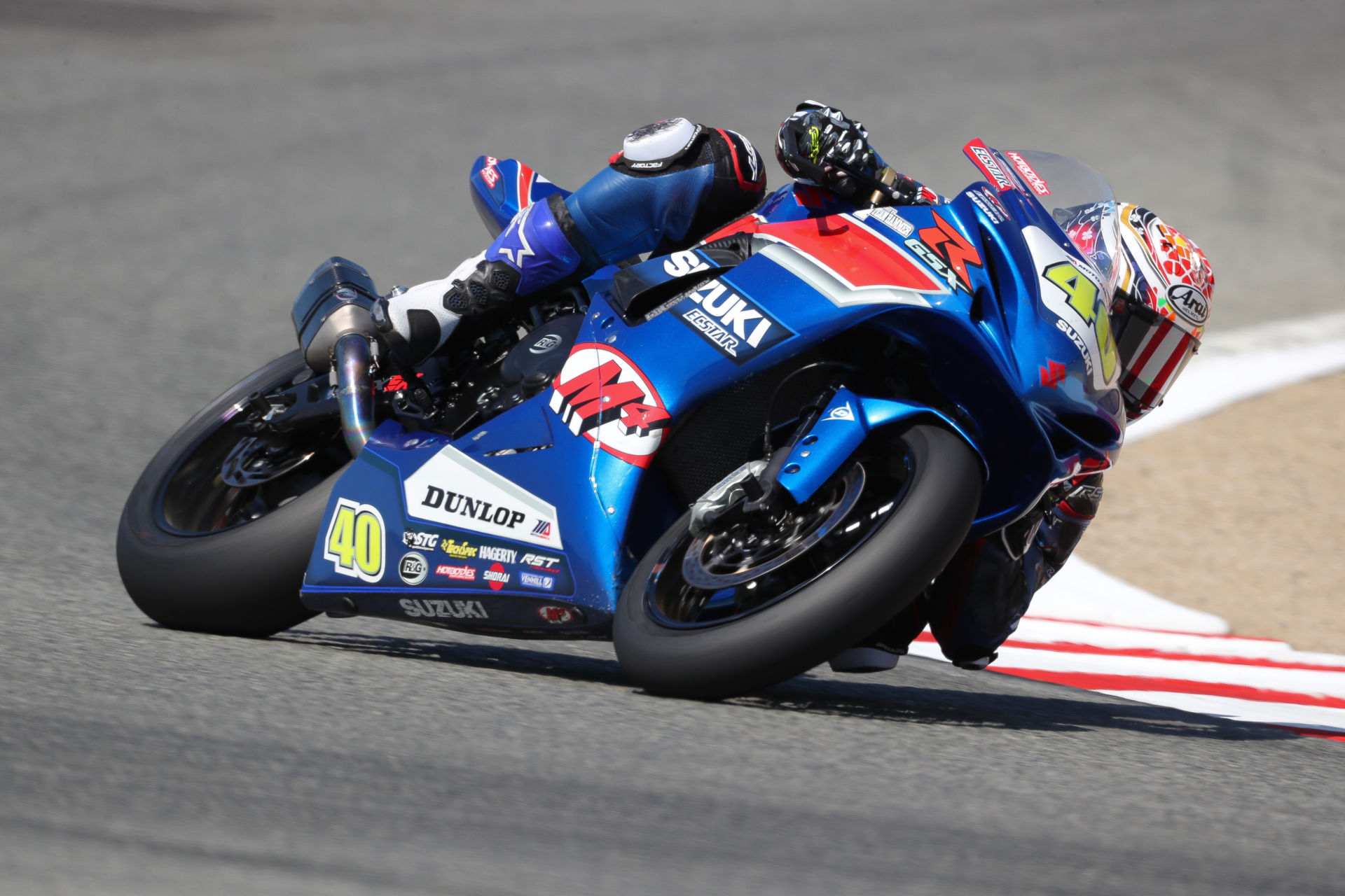 Sean Dylan Kelly (40) at speed at Laguna Seca. Photo by Brian J. Nelson.