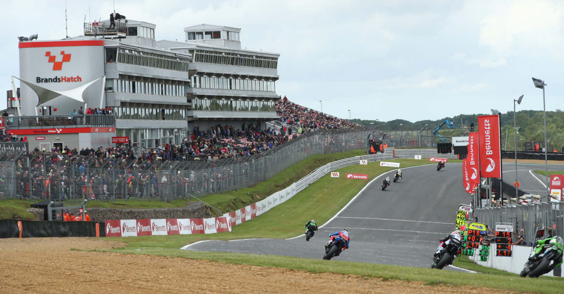 The British Superbike Championship returns to Brands Hatch this coming weekend. Photo courtesy MSVR.