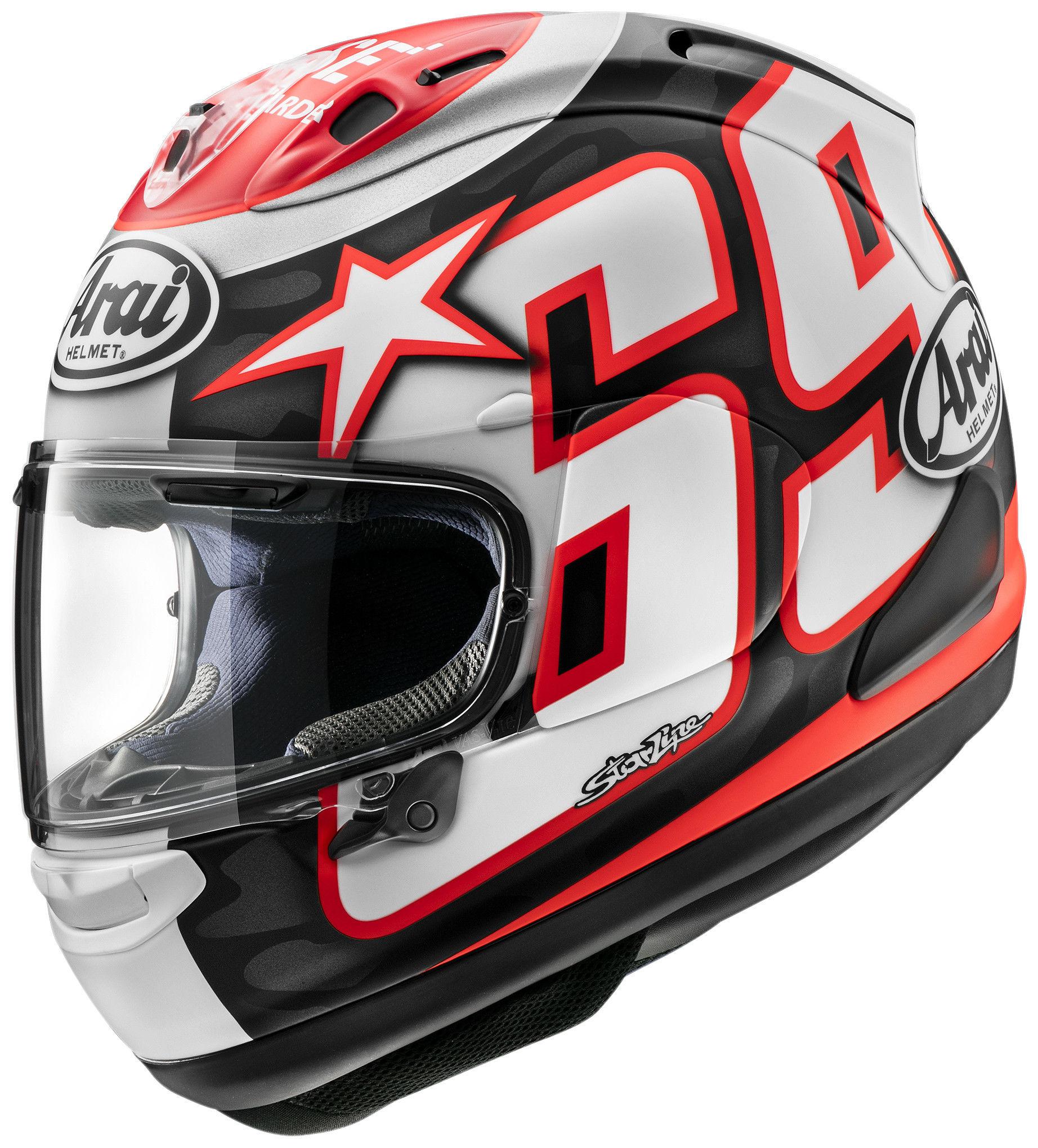 An Arai Nicky Reset Corsair-X helmet. Photo courtesy Arai.