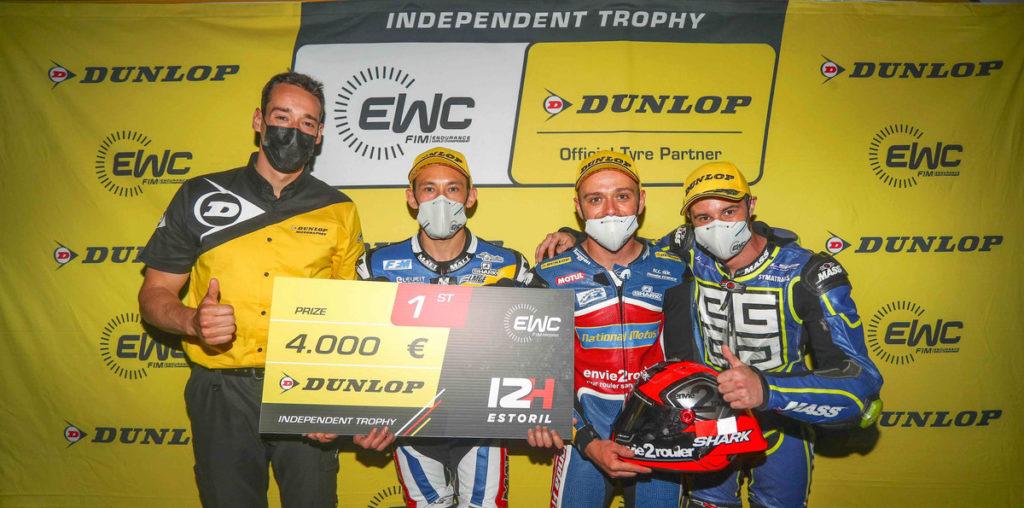 Estoril 12 Hours EWC Dunlop Independent Trophy presentation. Photo courtesy FIM/EWC.