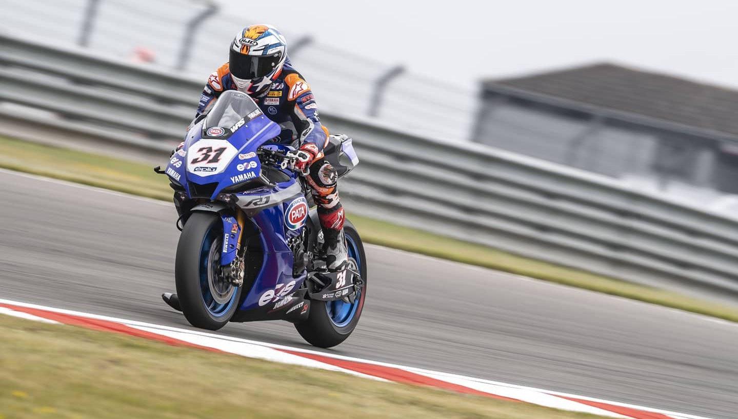 Garrett Gerloff (31) in action at Donington Park. Photo courtesy GRT Yamaha.