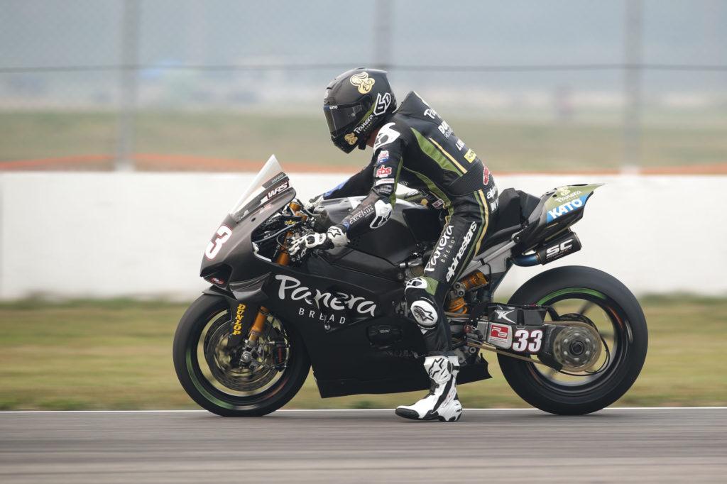Kyle Wyman (33). Photo courtesy Ducati.
