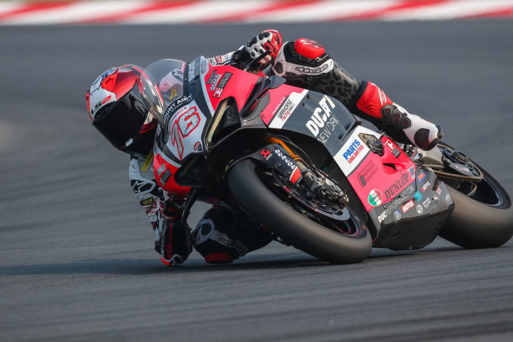 Loris Baz (76). Photo courtesy Ducati.