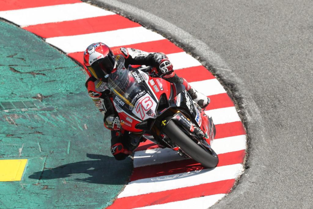 Loris Baz (76).  Photo courtesy of Ducati.