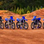 Yamaha's 2022 motocross model lineup. Photo courtesy Yamaha Motor Corp., U.S.A.