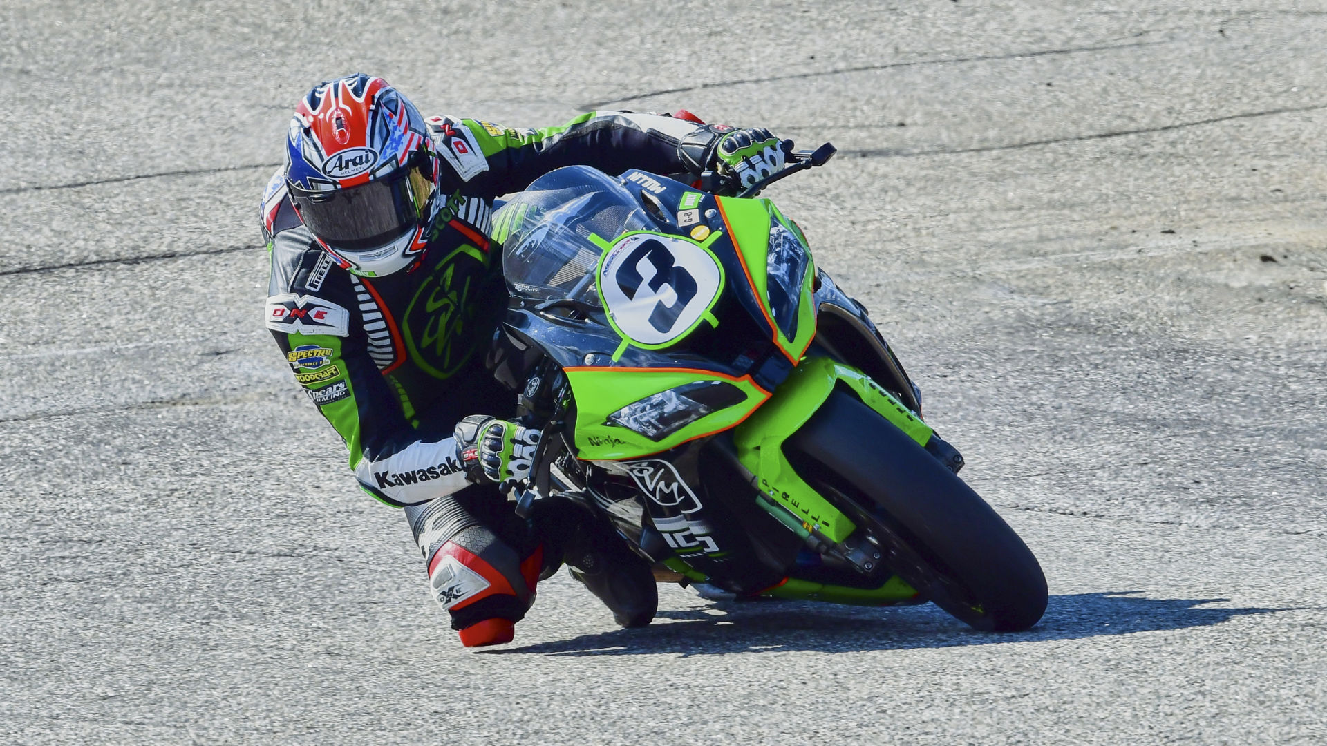 Scott Mullin (3), as seen in action at New Hampshire Motor Speedway on July 31. Photo by Martin Hanlon, courtesy NEMRR.
