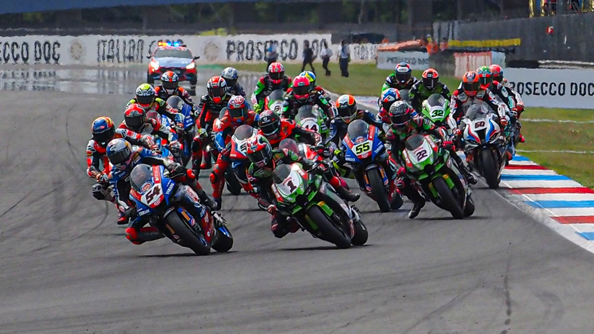 The World Superbike field is heading to Most, in the Czech Republic, a new venue for the World Championship. Photo courtesy Dorna.