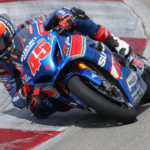 Cam Petersen (45) had another solid weekend with two top-ten finishes on his GSX-R1000R. Photo by Brian J. Nelson, courtesy Suzuki Motor USA, LLC.