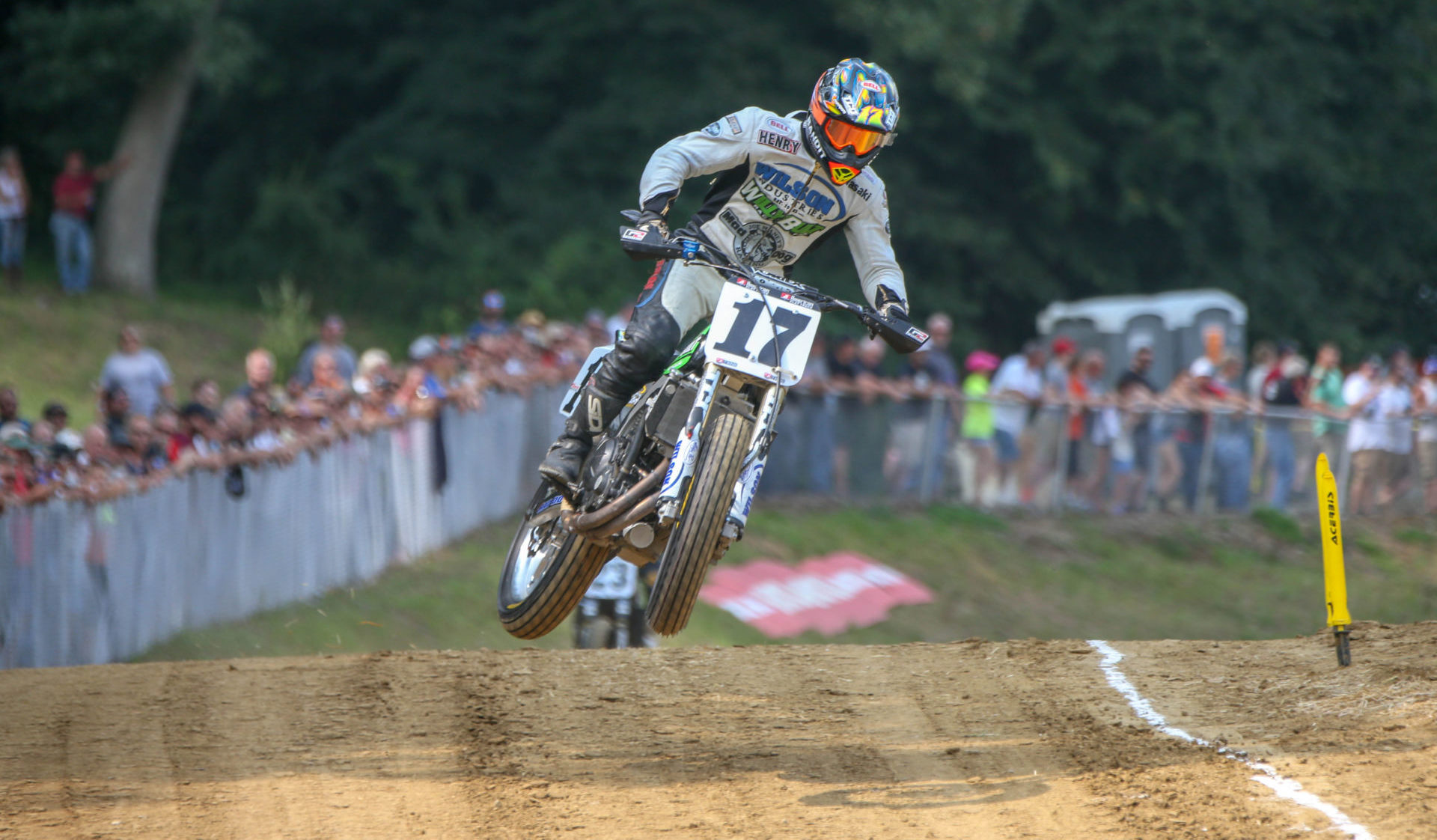 Henry Wiles (17) in action at the Peoria TT in 2018. Photo by Scott Hunter, courtesy AFT.