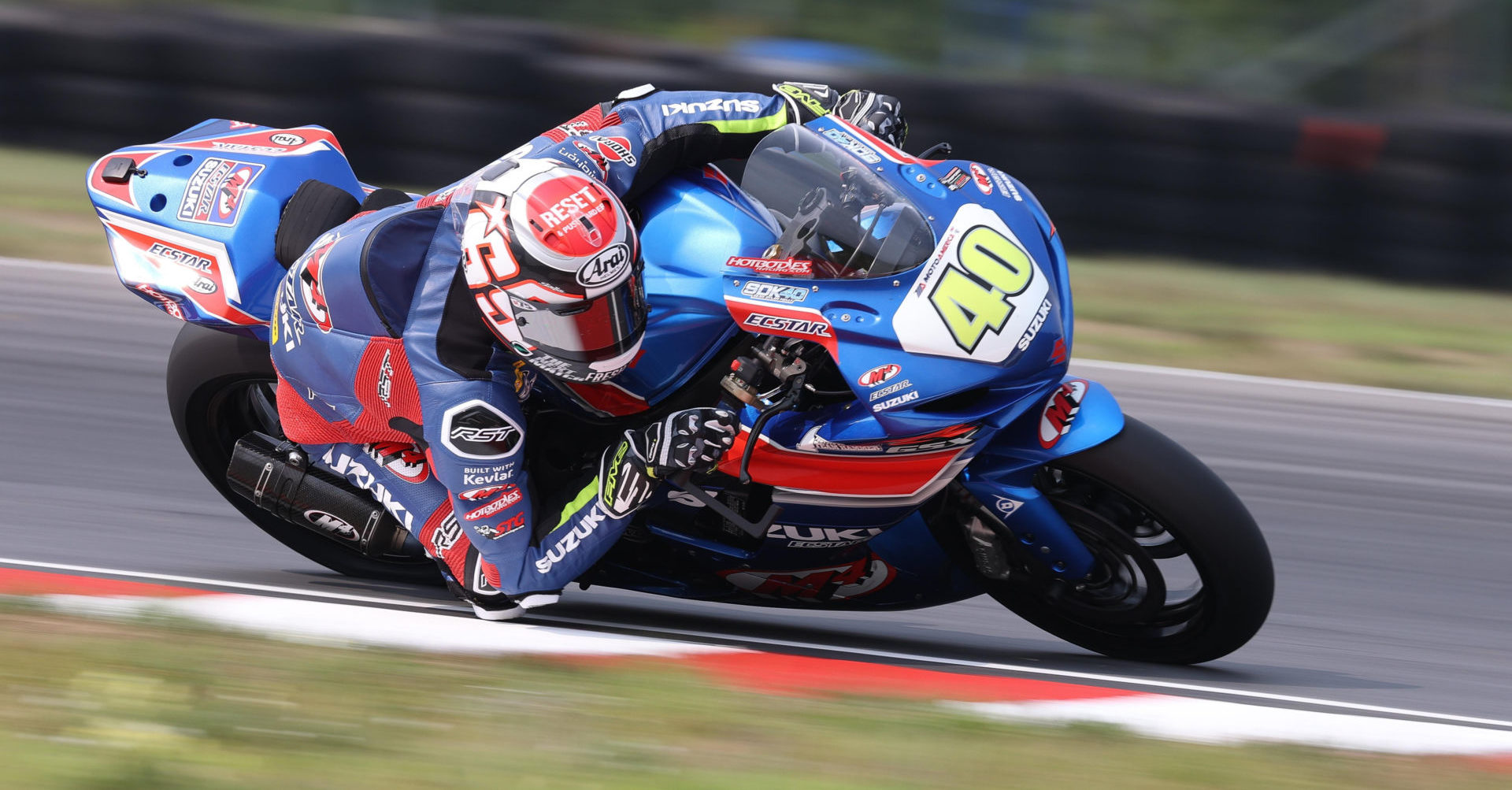 Sean Dylan Kelly (40) delivered two impressive wins and increased his lead in the Championship. Photo by Brian J. Nelson, courtesy Suzuki Motor USA, LLC.