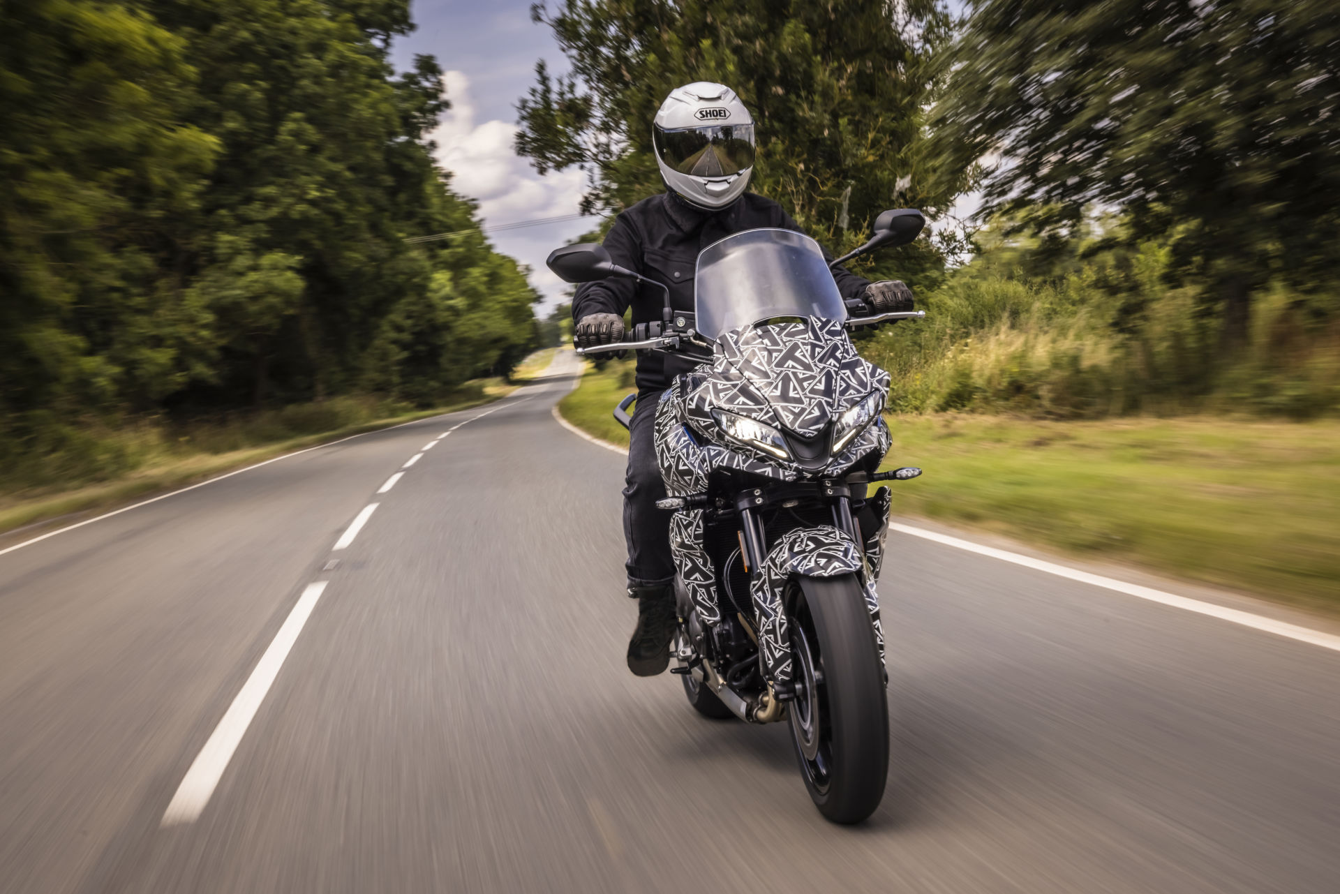 A Triumph Tiger Sport 660 prototype being testing on a public road. Photo courtesy Triumph.