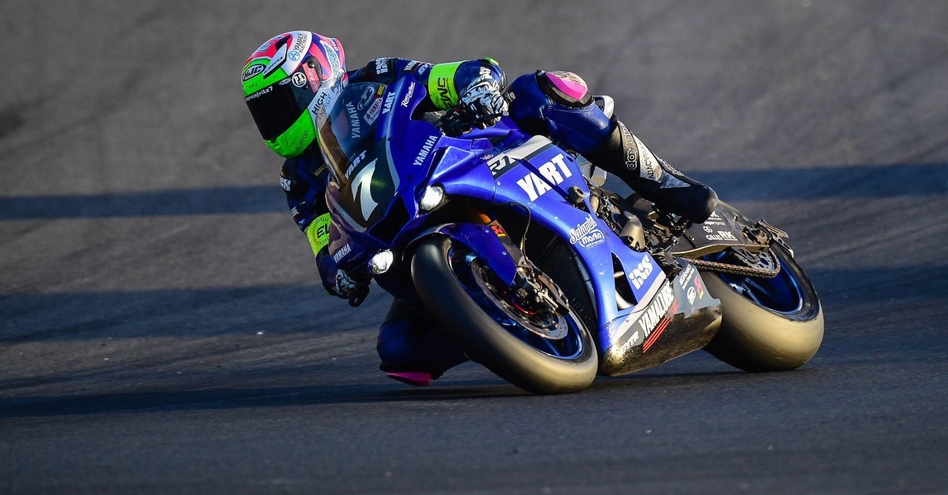 Marvin Fritz (7) in action on the YART Yamaha YZF-R1 Endurance World Championship racebike. Photo courtesy Yamaha Racing.