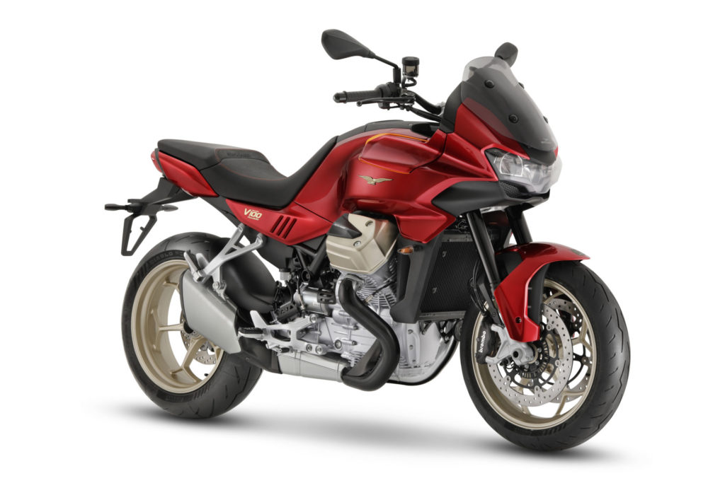 A 2022-model Moto Guzzi V100 Mandello. Photo courtesy Piaggio Group.