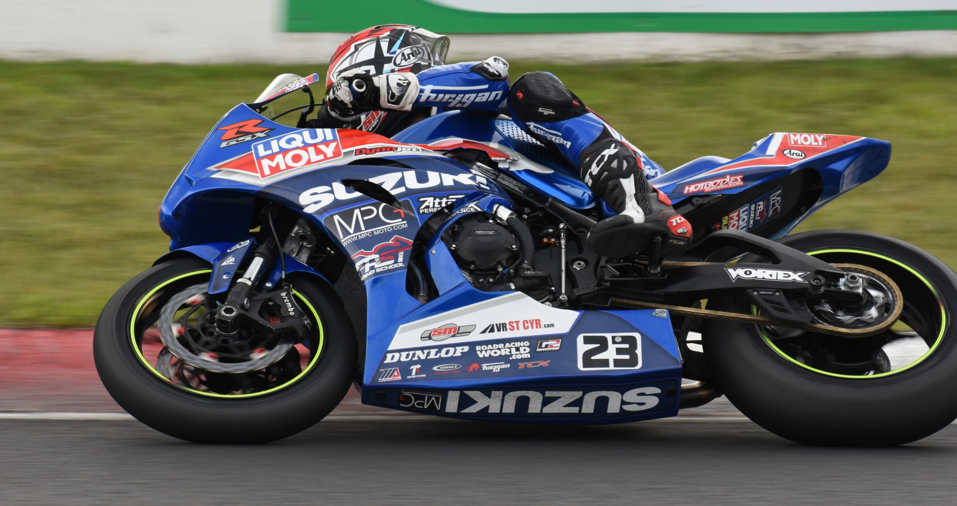Rookie Alex Dumas (23) leads the 2021 Canadian Superbike Championship heading into the final round. Photo by Colin Fraser, courtesy CSBK