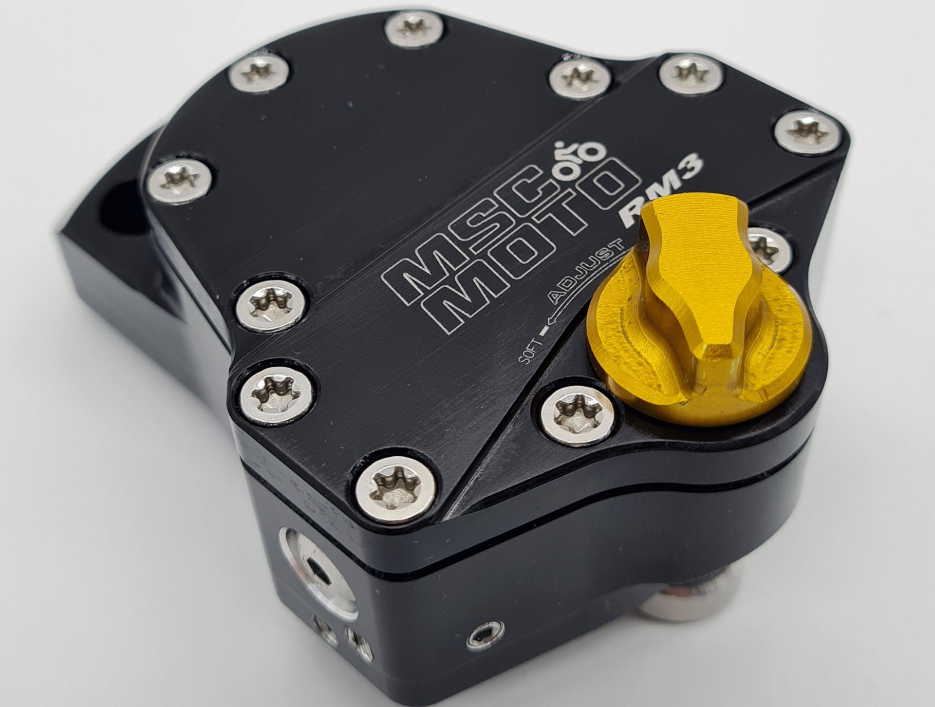 A MSC Moto steering damper. Photo courtesy Lindeco Genuine Powersports.