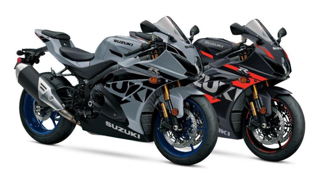 Two 2022-model GSX-R1000R sportbikes. Photo courtesy Suzuki Motor USA, LLC.