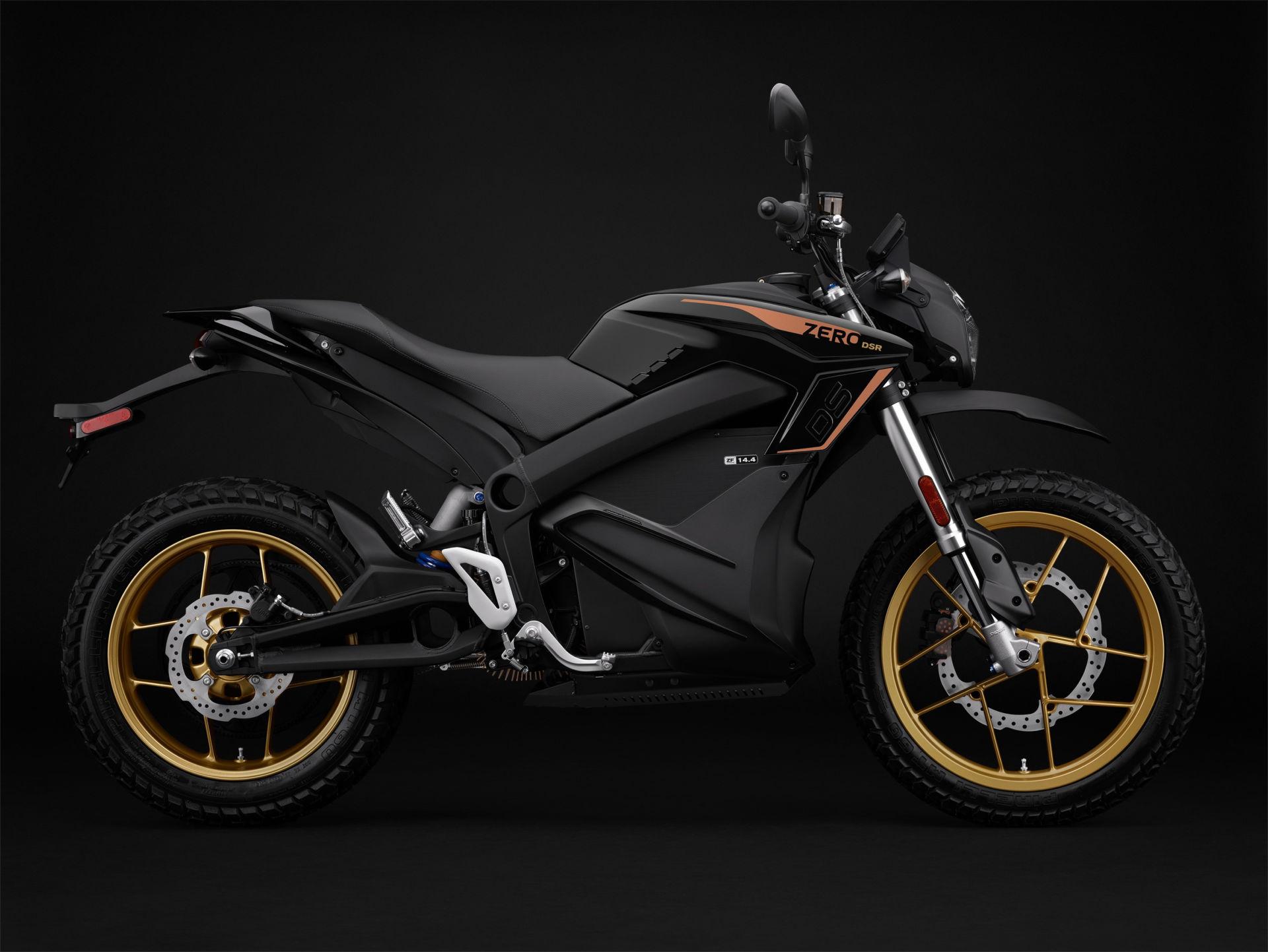 A 2022-model Zero DSR electric motorcycle. Photo courtesy Zero Motorcycles.