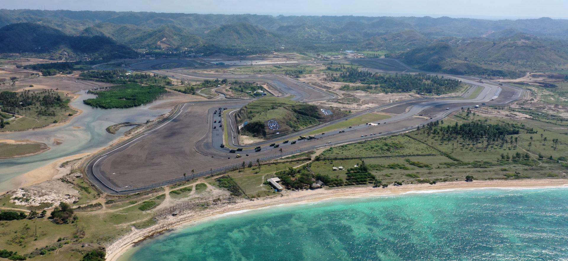 The Mandalika International Street Circuit under construction in Indonesia. Photo courtesy Dorna.